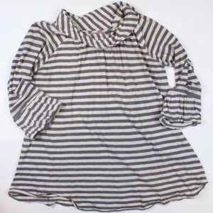 Velvet from Anthropology striped bell sleeve shirt